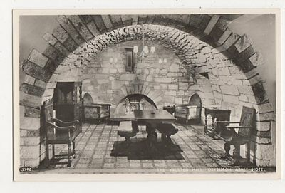 The Vaulted Hall, Dryburgh Abbey Hotel RP Postcard, B344