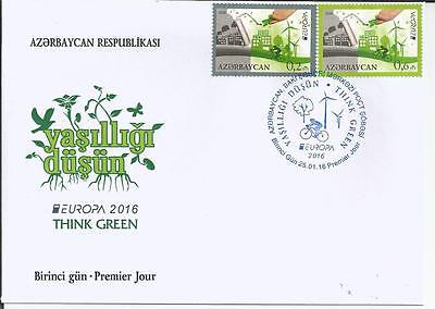 Azerbaijan 2016 - Europa CEPT Think Green FDC - First day cover