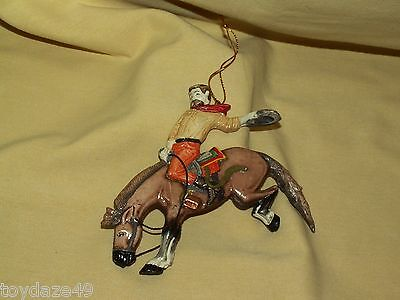 Horse Ornament Western Bucking Bronco Cowboy Unmarked Undated Christmas Rodeo