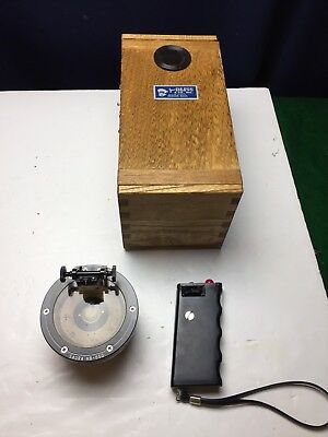Vintage SAURA HB-65G handheld GOLD SPECIAL COMPASS oak case EXCELLENT CONDITION