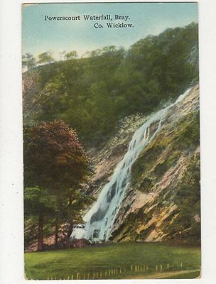 Powerscourt Waterfall Bray Co Wicklow Ireland Vintage Postcard 304a