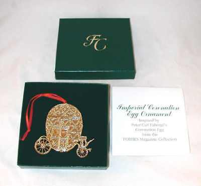 Brass Christmas Ornament Faberge Imperial Coronation Egg Coach Forbes Collection