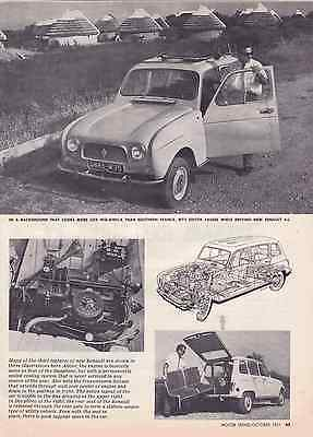 1961-1962 Renault 4-L  ~  Nice Original 2-Page Drivers Report Article / Ad
