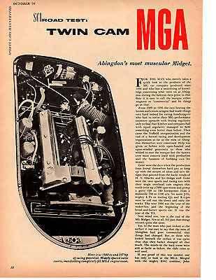 1958 Mg Mga Twin Cam ~ Original 4-Page Road Test / Article / Ad