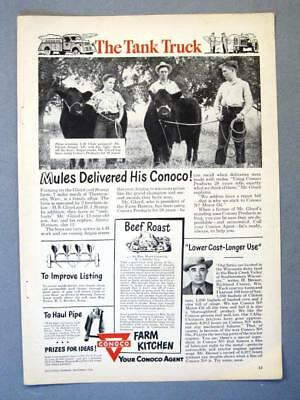 Dated Original 1949 Conoco Ad Endorsed H S Gloyd Family, Thermopolis, Wyoming