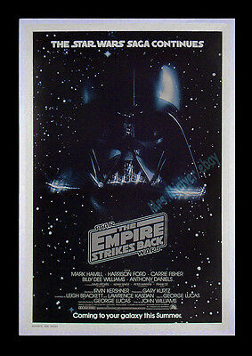 ORIGINAL Star Wars THE EMPIRE STRIKES BACK 1979 NM/ROLLED Advance MOVIE POSTER!!