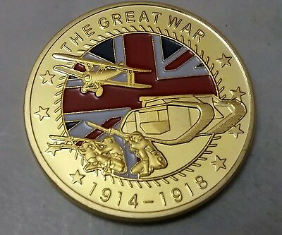 WW1 The Great War Commemorative Coin Somme Ypres Jutland In Memory Of The Fallen