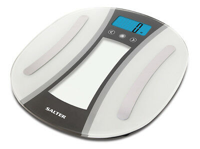 Salter 180kg Curve Electronic Digital Analyser Bathroom Scales - White - 9176 WH