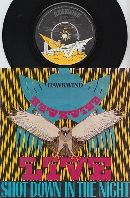HAWKWIND * Shot Down In The Night * 1980 PSYCH PROG UK Live 45