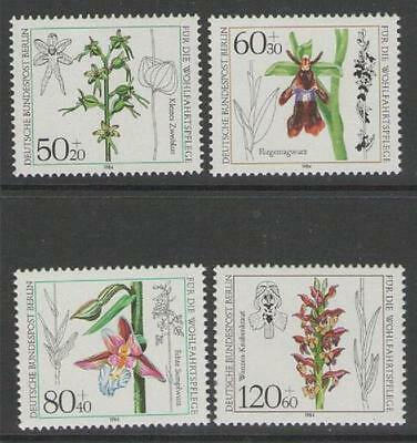 Germany Sgb686/9 1984 Orchids Mnh