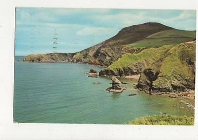 The Cliffs Llangranog 1968 Postcard 526a