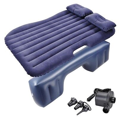 Inflatable Mattress Car Air Bed Travel Camping Backseat Cushion w/ Pillow Pump