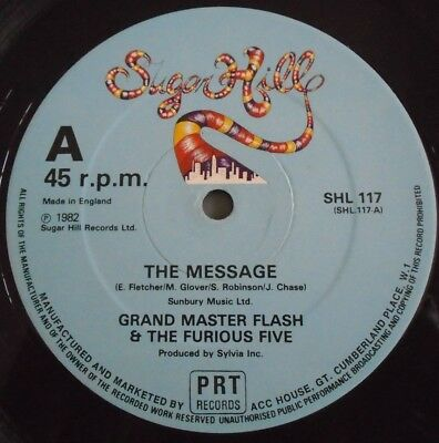 "GRANDMASTER FLASH & FURIOUS FIVE ~ The Message ~ 12"" Single"