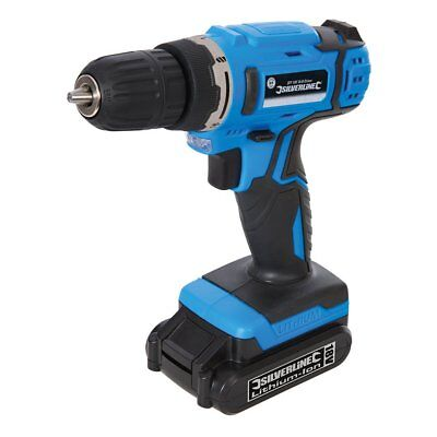 NEW Silverline 18V Cordless Drill Driver with Built in Light - Blue