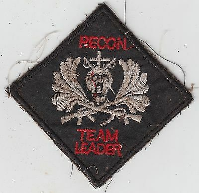 US Army Recon Team Leader Vietnam Patch MACV SOG