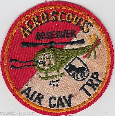 US Army 11th ACR Armored Cavalry Regiment Aero Scouts Patch OH-6A Cayuse Loach