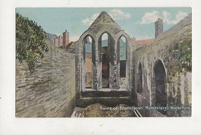 Ruins Of Franciscan Monastery Waterford Ireland Vintage Postcard 979a