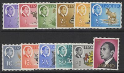 Lesotho Sg125/36 1967 Definitive Set Mnh