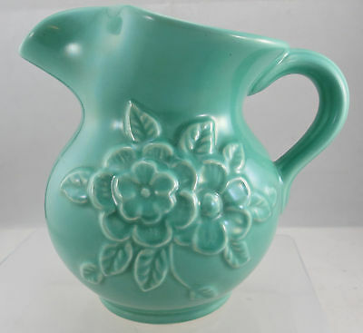 """Vintage Dartmouth Pottery Floral Jug 5.5"""" Tall"""