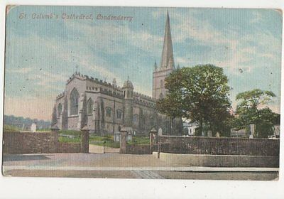 St Columbs Cathedral Londonderry Vintage Postcard 304a