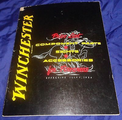 BR1965 WINCHESTER 1954 Price List Component Parts Sights Accessories 92 pgs NOS