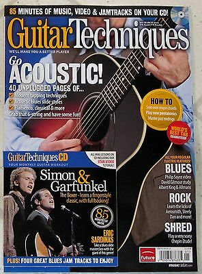GUITAR TECHNIQUES + CD March 2012 ACOUSTIC 40 Unplugged Pages SIMON & GARFUNKEL