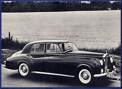 RF1452 1958 Rolls-Royce Silver Cloud Dealer Spec Card
