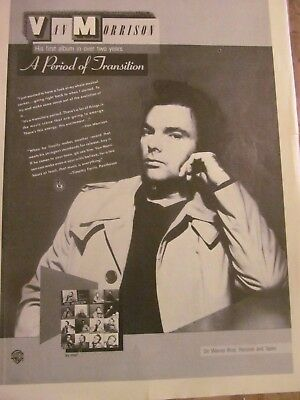 Van Morrison, A Period of Transition, Full Page Vintage Promotional Ad