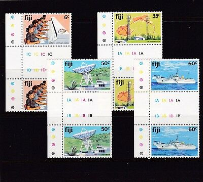 Fiji #445-448 Mnh South Pacific Cable Project (Cableship Retriever) Gutter Pair