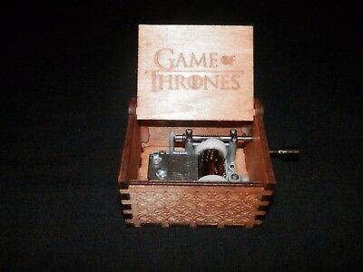 Game Of Thrones Wooden Hand Made Crank Music Box. Ships from USA!! GOT