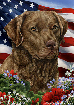 Large Indoor/Outdoor Patriotic I Flag - Chesapeake Bay Retriever 16070