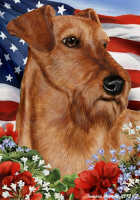 Large Indoor/Outdoor Patriotic I Flag - Irish Terrier 16220