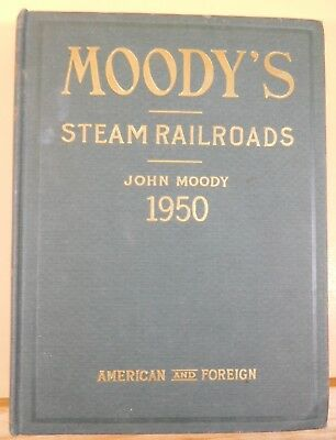 Moody's Transportation Manual 1950 HC Railroads Airlines Shipping Traction