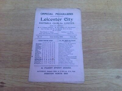 1949 1949 Leicester City V Lincoln City Programme