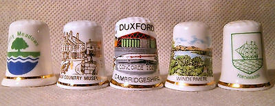 Set of Five Thimbles for Locations in the UK