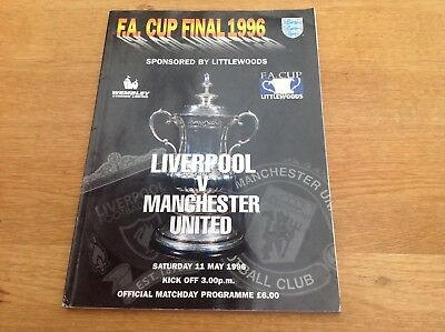 Liverpool V Manchester Utd 1996 Fa Cup Final Official Programme