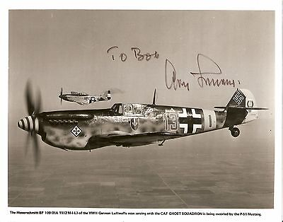 Adolf Galland Signed 8x10 photo German WWII Ace
