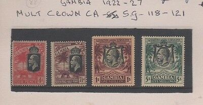 Gambia GV 1922 - 1927 Mint MH Multi Crown Set of 4, SG118 - SG121