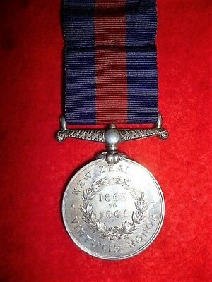 New Zealand Medal, Maori Wars 1845-66, reverse dated 1863 to 1864 to 40th Regt.