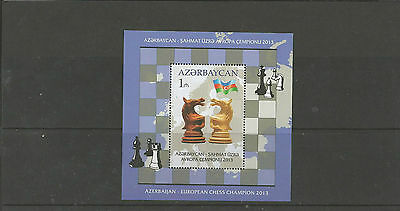 Azerbaijan 2014 - Chess souvenir sheet mnh