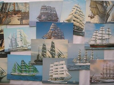 Vintage Tall Ships Postcards x 19