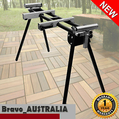 Mitre Drop Saw Roll Stand Adjustable Portable Cut Off Saw Support Station
