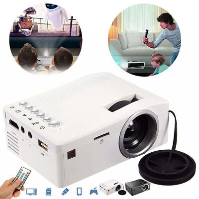 Full HD 1080p Cine en casa LCD LED mini Multimedia Proyector Cine USB TV HDMI