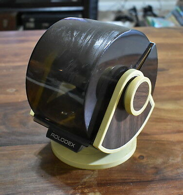 Rolodex Model SW-24C Swivel Base Vintage Wood Grain With Dividers