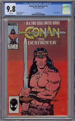 Conan the Destroyer #1 CGC 9.8 NM/MT Wp Marvel Comics Limited Series 1985 Movie
