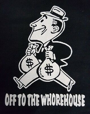 Off The Whorehouse Black Canvas Back Patch