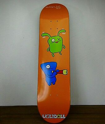 RARE UGLY DOLL SKATEBOARD ART DECK MONKEY BRAND DESIGNER David Horvath ORANGE