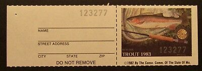 1983 Missouri Trout Fishing Stamp - Mint - NH - Full Gum with Tab