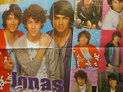 The Jonas Brothers, Selena Gomez, Double Four Page Foldout Poster