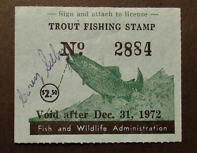 1972 Maryland Trout Fishing Stamp